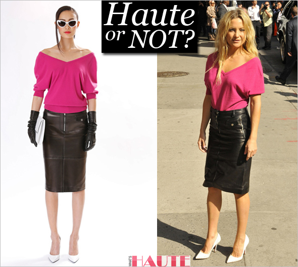 Haute or not: Kate Hudson in Michael Kors Pre-Fall 2013