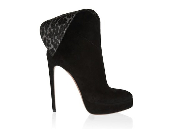 Azzedine Alaia leopard winged boots