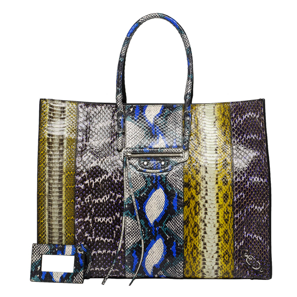 Balenciaga Papier A4 Elaphe Python tote bag as seen on Kate Moss