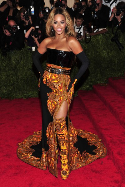 "Beyonce at The Metropolitan Museum of Art's Costume Institute benefit celebrating ""PUNK: Chaos to Couture"""