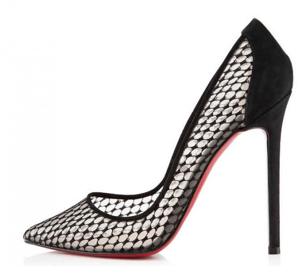 Christian Louboutin Pigaresille Lace & Suede Pumps