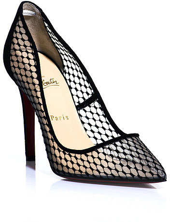 Christian Louboutin Pigaresille Lace & Suede Pumps front view