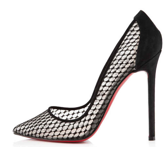 christian louboutin leather, lace and mesh pumps | The Little Arts ...