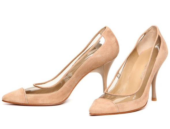 Donald J Pliner 'Bella' Suede And Vinyl Pump