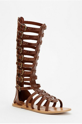 Ecote Helena Tall Buckled Caged Sandal