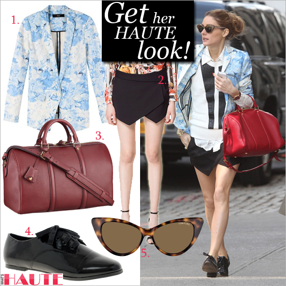 Get her haute look: Olivia Palermo in Tibi, Zara, Louis Vuitton, wunderkind and Yoim