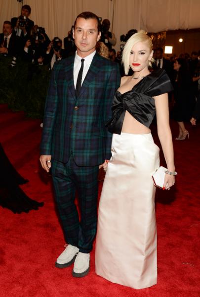 Gwen Stefani and Gavin Rossdale in Maison Martin Margiela