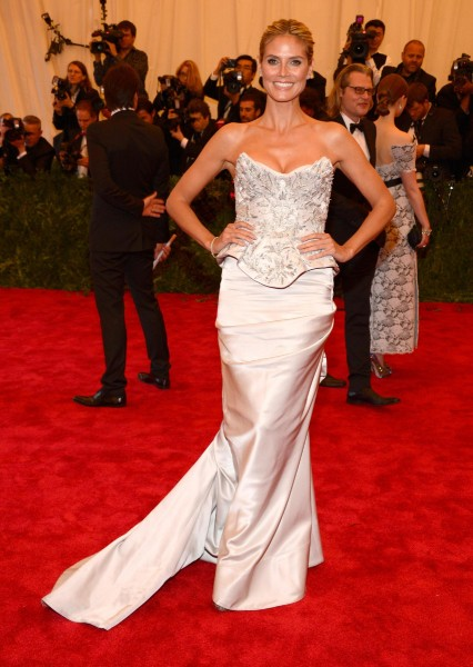 "Heidi Klum ""PUNK: Chaos To Couture"" Costume Institute Gala"