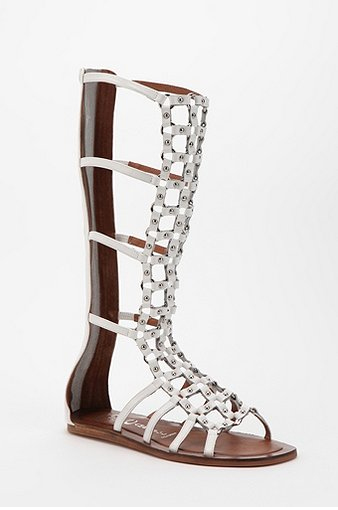 Jeffrey Campbell Alvar Tall Round-Stud Caged Sandal