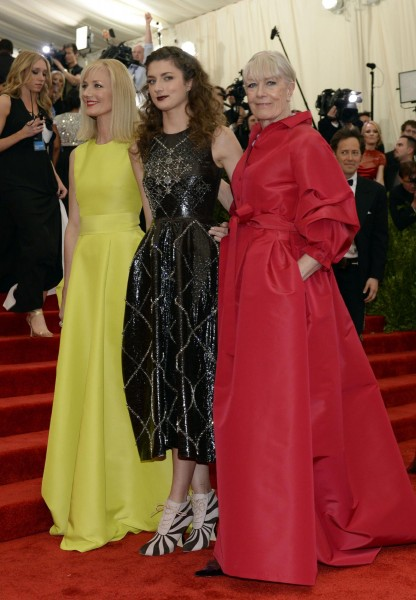 "Vanessa Redgrave, Daisy Bevan and Joely Richardson at the Metropolitan Museum of Art's Costume Institute Gala ""Punk: Chaos to Couture"""