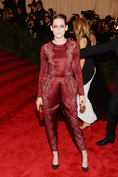 Kristen Stewart in a jumpsuit by Stella McCartney