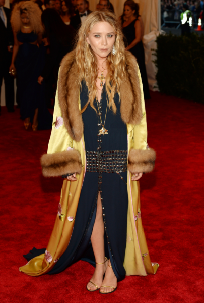 Mary-Kate Olsen in a Dior dress