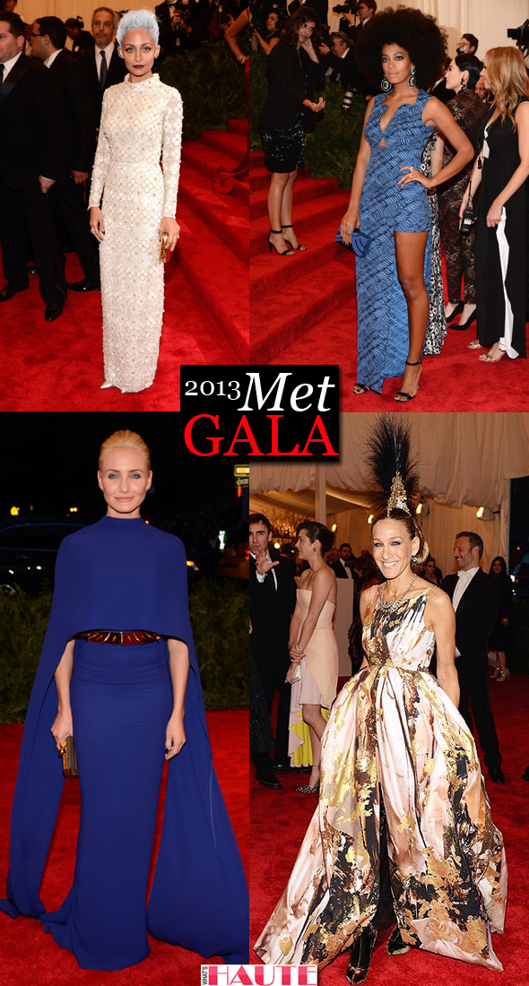 "Nicole Richie, Solange Knowles, Cameron Diaz and Sarah Jessica Parker at the 2013 Met Gala ""Punk: Chaos to Couture"""