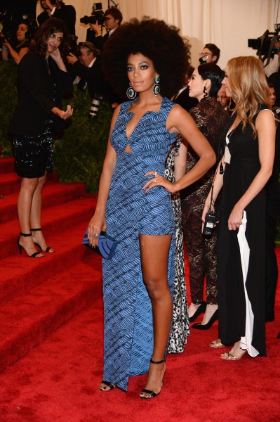 "Solange Knowles in Kenzo ""PUNK: Chaos To Couture"" Costume Institute Gala"