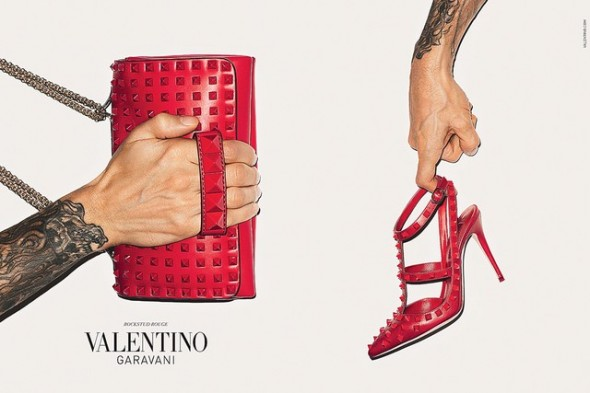 Valentino's fall accessories ad with Terry Richardson