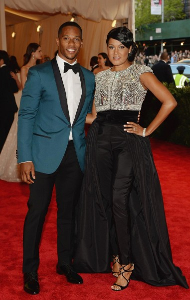 "Victor Cruz and Elaina Watley ""PUNK: Chaos To Couture"" Costume Institute Gala"