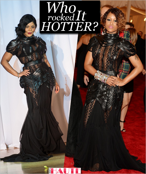 Who rocked it hotter: Eve or Lil Kim in a limited-edition Dominique Auxilly Notorious dress