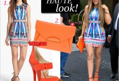 Get her haute look: Khloe Kardashian in Clover Canyon, Givenchy & Jimmy Choo!
