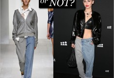 Haute or not: Miley Cyrus in Ashish sweatpants jeans