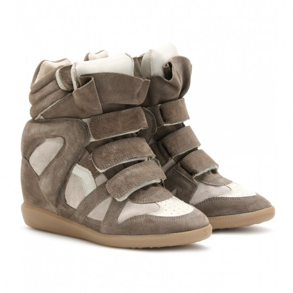 Isabel Marant Beckett Suede Wedge Sneakers