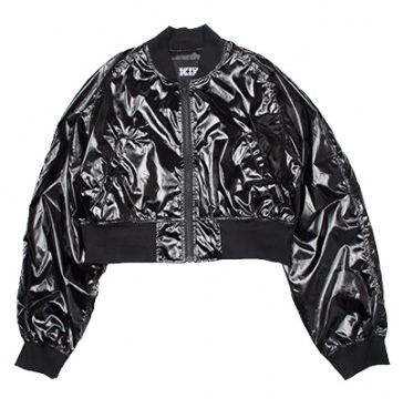 KTZ Patent Leather Bomber Jacket