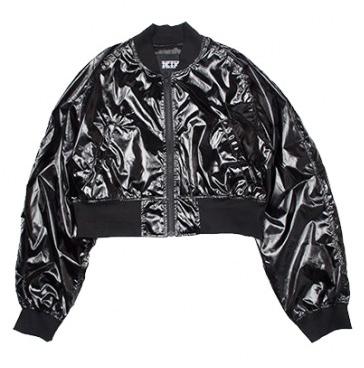 KTZ Patent Leather Bomber Jacket