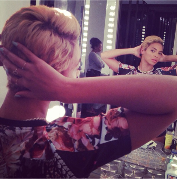 Beyonce debuts new pixie haircut on Instagram