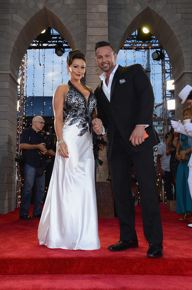 Jenni 'Jwoww' Farley and Roger Mathews at the 2013 MTV Video Music Awards