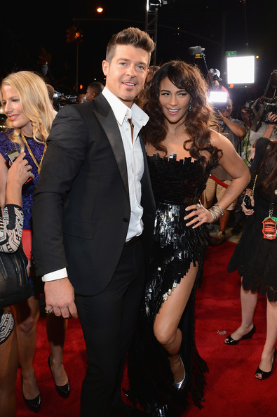 Robin Thicke and Paula Patton at the 2013 MTV Video Music Awards
