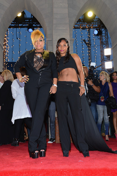 Tionne 'T-Boz' Watkins and Rozonda 'Chilli' Thomas of TLC attend the 2013 MTV Video Music Awards
