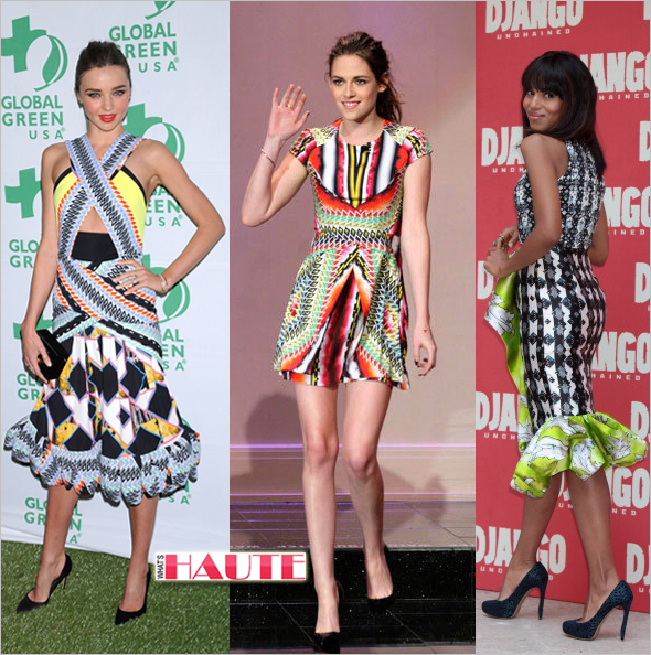 Miranda Kerr, Kristen Stewart & Kerry Washington in Peter Pilotto dresses - Target's next big designer collaboration
