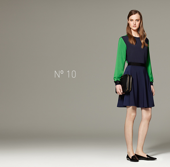 Phillip Lim for Target - Pullover in Navy/Green, Silky Skirt in Navy, Pack-it-All Bag in Black