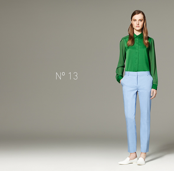 Phillip Lim for Target - Long-Sleeve Blouse in Green, Pant in Light Blue
