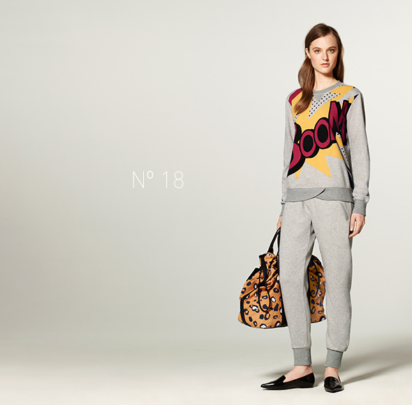 Phillip Lim for Target - French Terry Sweatshirt in Boom Print, French Terry Sweatpant, Drawstring Carry-All Bag in Animal Print