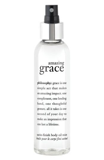 Beauty buys: Philosophy Amazing Grace Satin-Finish Body Oil Mist
