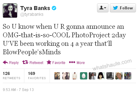 Tyra Banks announces 15 in a tweet