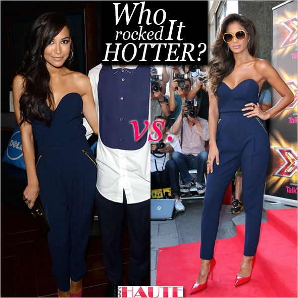Who rocked it better: Naya Rivera vs. Nicole Scherzinger in a Three Floor Sky High Jumpsuit