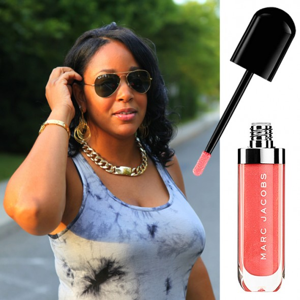 My new favorite lip gloss: Heart Shaped from MARC JACOBS BEAUTY Lust For Lacquer Lip Vinyl - Sheer