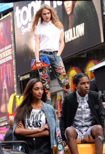 A$AP Rocky, Cara Delevingne and Jourdan Dunn in a DKNY campaign