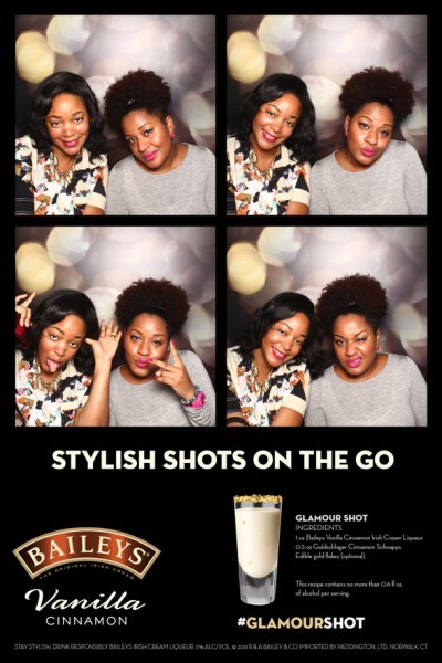Bailey's Vanilla Cinnamon stylish shots photobooth
