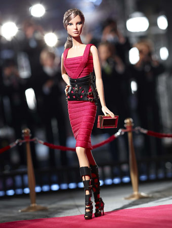 Barbie in Hérve Léger by Max Azria
