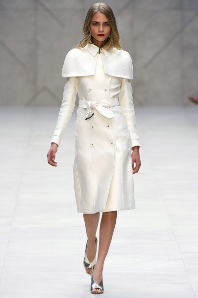 Burberry Spring Summer 2013 white trench coat