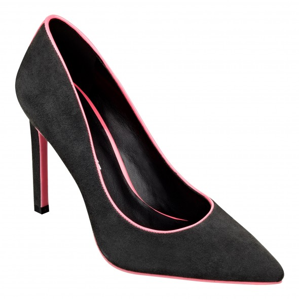 Cameron Silver For Nine West JACE pump in grey pink suede
