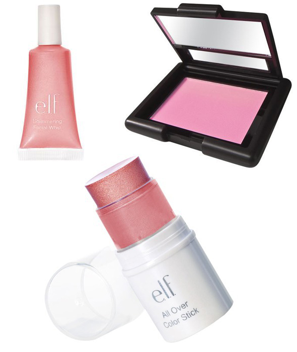 Drugstore Finds: e.l.f. Essential All Over Color Stick - Pink Lemonade, e.l.f. Studio Blush - Pink Passion, e.l.f. Shimmering Facial Whip - Persimmon