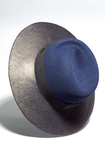 Maison Michel 'Virginie' Leather Brim Trilby Hat