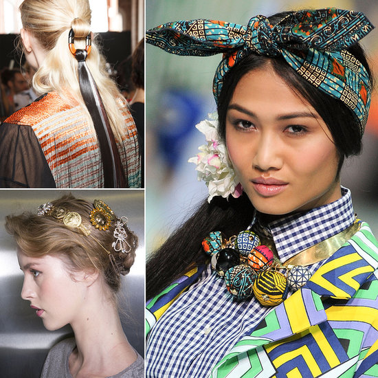 Milan Spring 2014 Embellished Hair