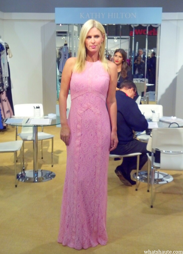 Nicky Hilton in Kathy Hilton evening wear at Coterie