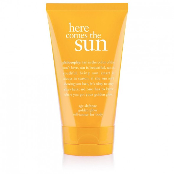 Philosophy Here Comes The Sun Age Defense Golden Glow Self-Tanner for body