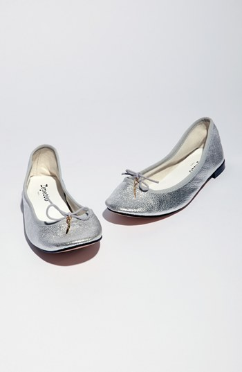 Repetto 'Cendrillon' Distressed Goatskin Ballet Flat