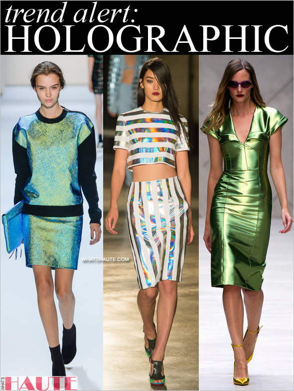 Trend alert: Holographic fashion and accessories, Milly, Jonathan Saunders and Burberry runway